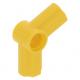 LEGO technic 112,5°-os tengely és pin csatlakozó #5, sárga (32015)