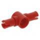 LEGO technic 2 db pin középen pin csatlakozóval 3 hosszú, piros (87082)