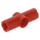 LEGO technic 180°-os tengely és pin csatlakozó #2, piros (32034)