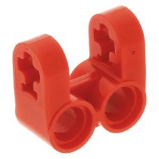 LEGO technic merőleges tengely és dupla pin csatlakozó 2×2 (keresztblokk), piros (41678)