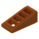 LEGO tetőelem 18°-os 2×1×2/3 rácsozott, sötét narancssárga (61409)