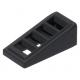 LEGO tetőelem 18°-os 2×1×2/3 rácsozott, fekete (61409)