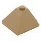LEGO tetőelem 25°-os (33)  3×3 sarok, sötét sárgásbarna (3675)