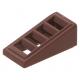 LEGO tetőelem 18°-os 2×1×2/3 rácsozott, vörösesbarna (61409)
