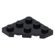 LEGO ék alakú lapos elem 3x3 (45°-os), fekete (2450)