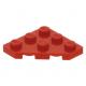 LEGO ék alakú lapos elem 3x3 (45°-os), piros (2450)