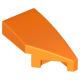 LEGO ék alakú íves elem 1x2 jobbos, narancssárga (29119)