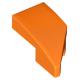 LEGO ék alakú íves elem 1x2 balos, narancssárga (29120)