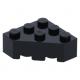 LEGO ék alakú kocka 3x3 (45°-os) sarok, fekete (30505)