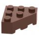 LEGO ék alakú kocka 3x3 (45°-os) sarok, vörösesbarna (30505)