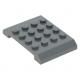 LEGO ék/tető 4×6×2/3 oldalain íves tetején 16 bütyökkel, sötétszürke (32739)