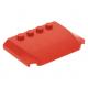 LEGO ék 4×6×2/3 íves tetején négy bütyökkel, piros (52031)