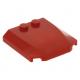 LEGO ék 4×4×2/3 íves tetején két bütyökkel, piros (45677)
