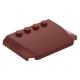 LEGO ék 4×6×2/3 íves tetején négy bütyökkel, sötétpiros (52031)