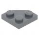 LEGO ék alakú lapos elem 2x2 (45°-os), sötétszürke (26601)