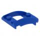 LEGO ék 4×3 íves középen nyitott tetején két-két bütyökkel, kék (47755)