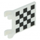 LEGO zászló 2×2, fekete-fehér kockás mintás (81267)