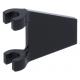LEGO zászló 2×2 trapéz alakú, fekete (44676)