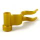 LEGO zászló lobogó 4×1, gyöngyház arany (4495)