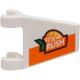 LEGO zászló 2×2 trapéz alakú 'Vita Rush' logó mintával, fehér (73912)